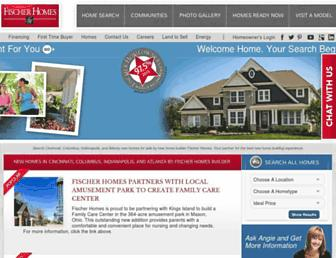 fischerhomes.com screenshot