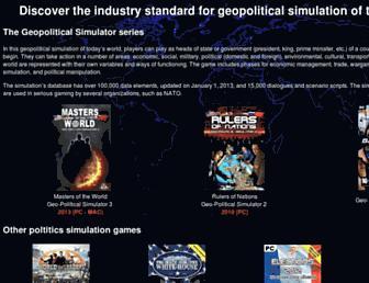 geo-political-simulator.com screenshot