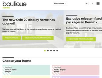 boutiquehomes.com.au screenshot