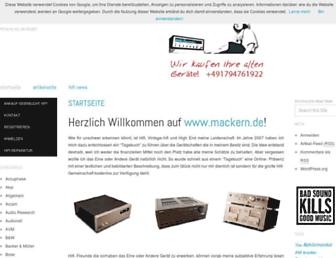 mackern.de screenshot