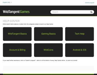support.wildtangent.com screenshot