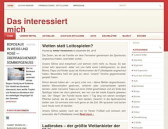 Main page screenshot of jetzt-weiss-ich.de