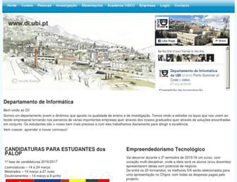 di.ubi.pt screenshot