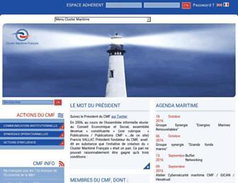 cluster-maritime.fr screenshot