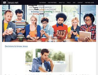 Main page screenshot of jesus.net
