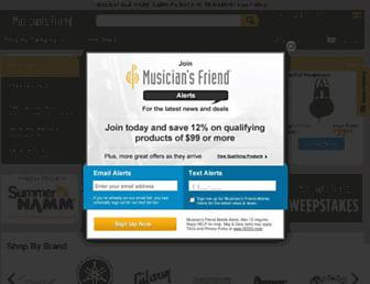 musiciansfriend.com screenshot
