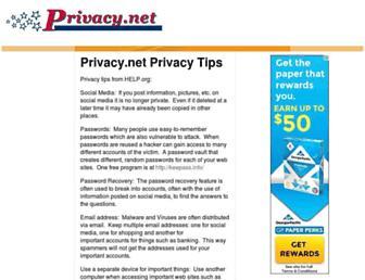 privacy.net screenshot