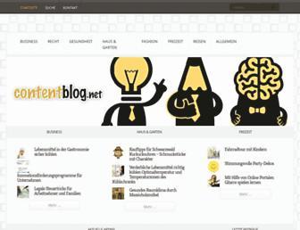 Main page screenshot of contentblog.net