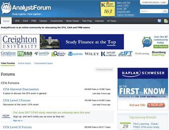 analystforum.com screenshot