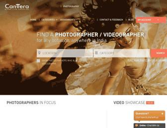 photographers.canvera.com screenshot