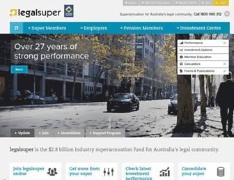 legalsuper.com.au screenshot
