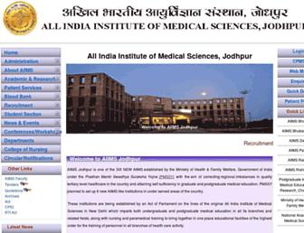 aiimsjodhpur.edu.in screenshot