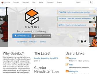 gazebosim.org screenshot