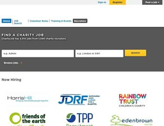charityjob.co.uk screenshot