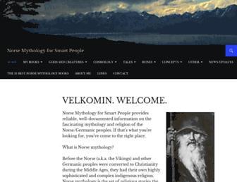 Thumbshot of Norse-mythology.org