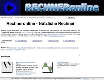 rechneronline.de screenshot