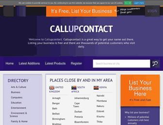 callupcontact.com screenshot