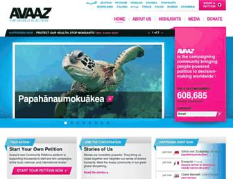 Thumbshot of Avaaz.org