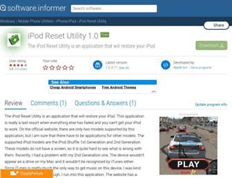 ipod-reset-utility.informer.com screenshot
