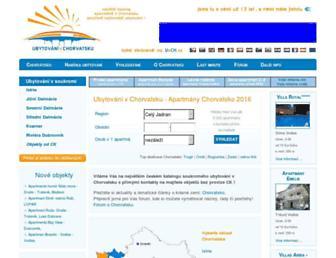 Main page screenshot of ubytovanivchorvatsku.cz