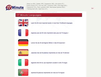 17-minute-world-languages.com screenshot