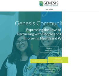 Main page screenshot of genesisworldmission.org