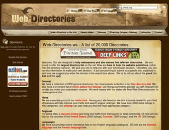 Main page screenshot of web-directories.ws