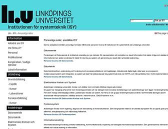 users.isy.liu.se screenshot
