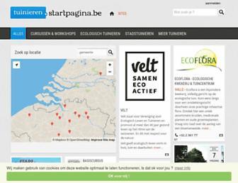 Main page screenshot of tuinieren.startpagina.be