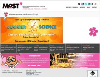 Main page screenshot of most.org