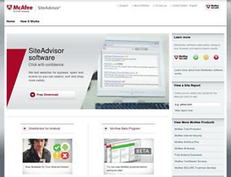Thumbshot of Siteadvisor.com