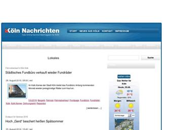 Main page screenshot of koeln-nachrichten.de