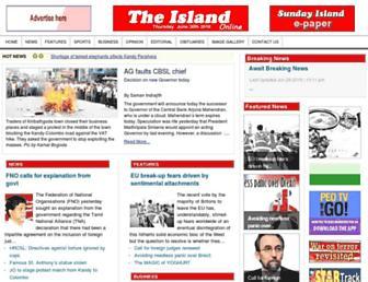 Main page screenshot of island.lk