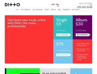 dittomusic.com screenshot