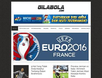 gilabola.com screenshot