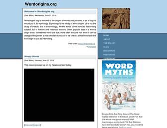 wordorigins.org screenshot