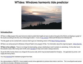 wtides.com screenshot