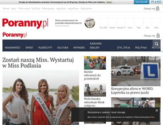 Main page screenshot of poranny.pl