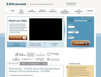 efinancial.com screenshot