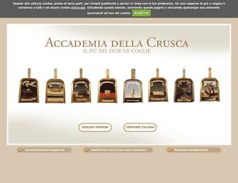 Main page screenshot of accademiadellacrusca.it