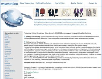 Main page screenshot of china-clothing-manufacturer.org