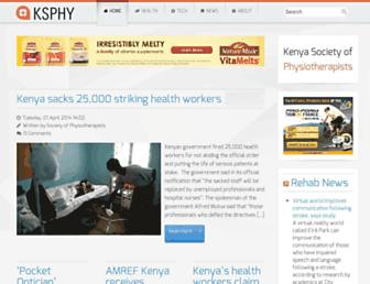 Main page screenshot of ksphy.org