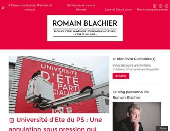 Main page screenshot of romainblachier.fr