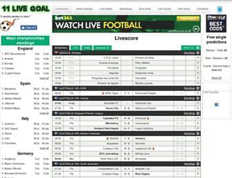 11livegoal.com screenshot