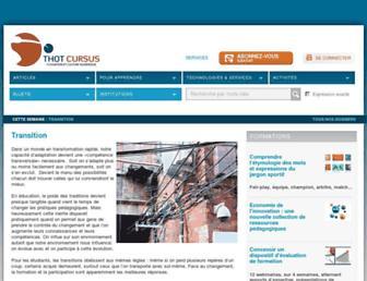 Main page screenshot of cursus.edu