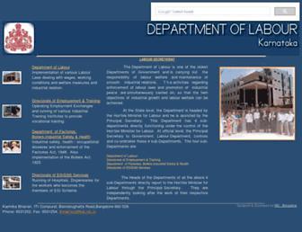 labour.kar.nic.in screenshot