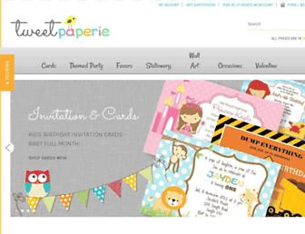tweetpaperie.com screenshot