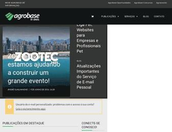 Main page screenshot of agrobase.com.br