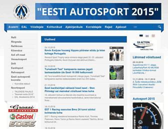 Main page screenshot of autosport.ee
