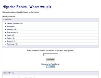 nigerianforum.net screenshot